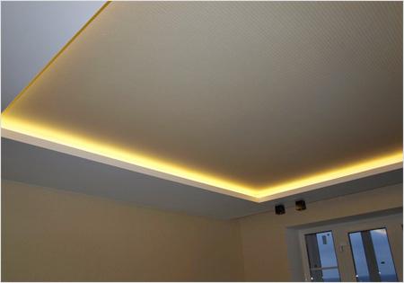 Подсветка подвесного потолка.