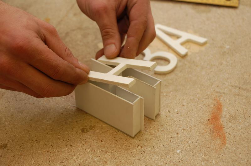 Изготовление объемных букв своими руками видео