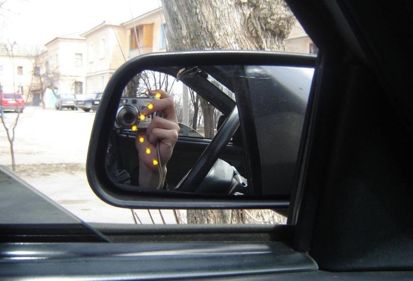 Поворотник на зеркалах своими руками